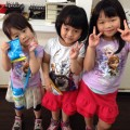 3人娘でヘアカットに来てくれました✂️✨  年長さん、年中さん、年少さんのトリオです🎵  保育士も、完備しているのでママ達も安心✨