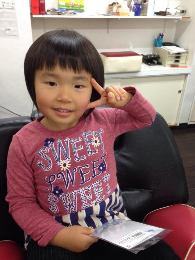 妹チャンも、カットシェービングですっきりです(^-^)/ ショートボブスタイルです!!