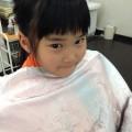 妹ちゃんは、のばしたい時期みたいなので、前髪カットと整えるぐらいです(^-^)/