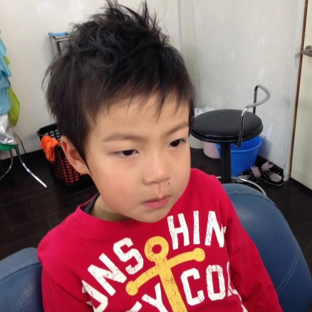 次年中さんになる、男の子はフォワードナチュラルモヒ風スタイルです(^-^)/ カッコ良くなって喜んでくれてます!!