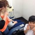 ママと子供さんと一緒に施術する事が出来ます! ママは、エステシェービングで更に綺麗に!  息子さんは、夏用にスッキリベリーショートスタイルです!