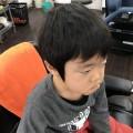 カット前の3歳の男の子です。 どう変身したか乞うご期待(^-^)/