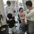 石川県から帰省のたびに実家に帰る前に来ていただけるファミリーです(^-^)/  パパは カット シェービング  ママは エステ シェービング お姉チャンは カット シェービング 可愛くボブに 妹チャンも カット シェービング  可愛くレイヤースタイルに(^-^)/
