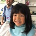 カット シェービング 前の4歳の年中さんの女の子チャンです!!  どう可愛く変身したか乞うご期待(^-^)/  ヒントは、プールが始まるよっ!!です(^-^)/  保育士も完備しているので、安心ですよ(^-^)/