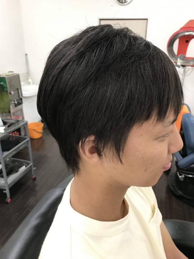 サイド バックもストレートパーマで、さっきしました!! 短い髪の毛にも対応しています(^-^)/