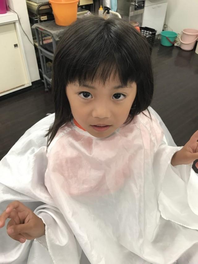 4歳 保育園 年中さんの女の子チャンです!! ママの希望で、プールも始まるしスッキリ可愛い変身して下さいとの事です(^-^)/ どう変身したか乞うご期待!!