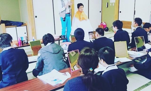 就職 をひかえている 高校3年制 の子達に 身だしなみセミナーをさせて頂きました(^-^)/ ヘアスタイル ヘアセット シェービング お顔剃りの大切さを僕なりに講演させて頂きました。