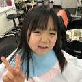 5歳 年中組 さんの女の子 チャンが来店してくれました(^-^)/  ママの希望で、バッサリ ショートボブにとの事(^-^)/ カット シェービングでどう大変身したでしょう!!