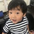 カット前の 2歳 3歳 の 男の子チャンです(^-^)/ どう変身するでしょう!? 保育士 保育士完備なので安心です!!