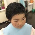 カット シェービング 顔剃り 前の 4歳 5歳 の保育園 年中 さんの男の子です! どう変身したでしょう!?