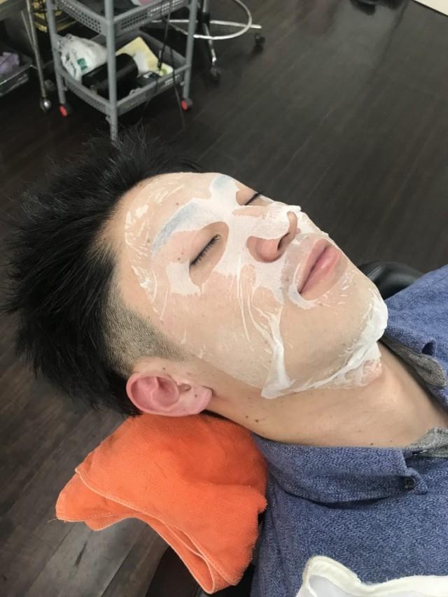 シェービング 顔剃り エステ パック でお顔もピカピカスッキリです(^-^)/
