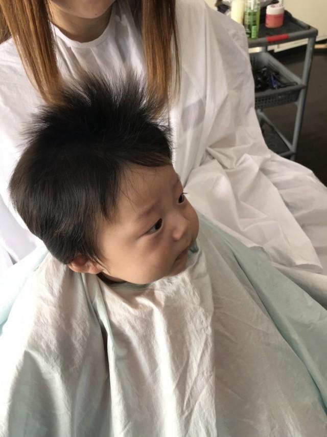 3ヶ月 の 赤ちゃんはHAIRSPACEFOREST 最年少ですね(^-^)/