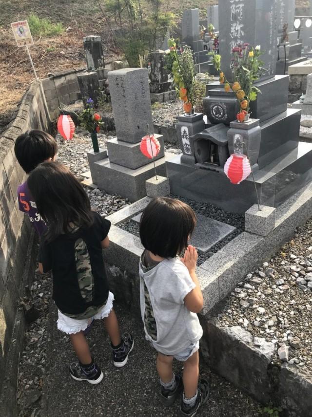 お盆らしくお墓詣り(^-^)/