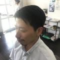 七五三 撮影 運動会 前にパパもスッキリカッコ良く変身(^-^)/ カット シェービング  コースで トータルビューティーです! 髭もカッコ良くトリミング trimming です。