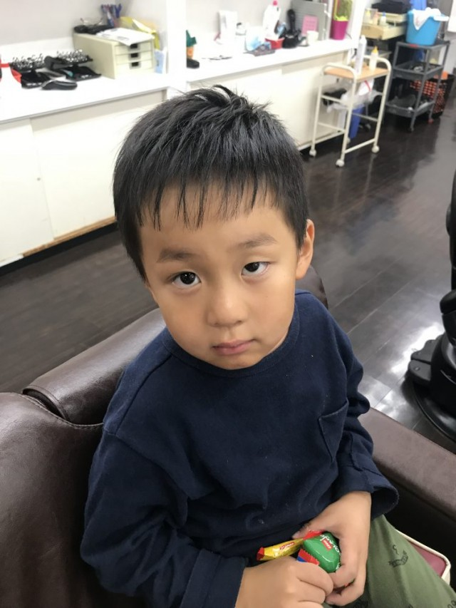 前髪 も全体的にスッキリです(^-^)/
