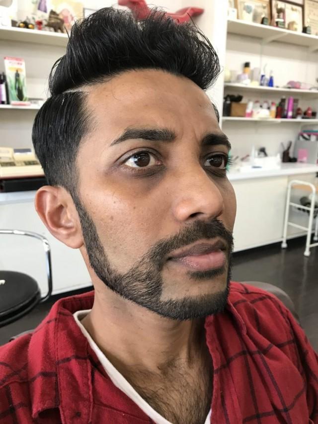 カット シェービング 顔剃り でカッコ良く変身した、スリランカのお客様です!!
