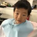 カット シェービング 顔剃り 前の6歳さんです!!
