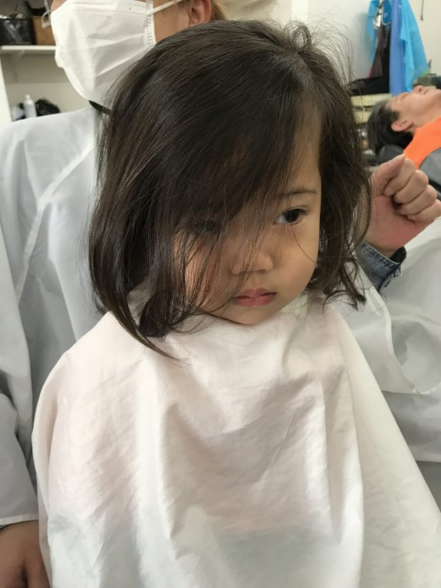 可愛い2歳さんの女の子チャンです! カットデビュー!!